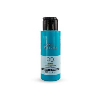 09 Viktoria Classic Acrylic Paint Turquoise