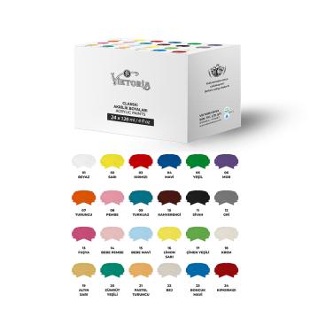 Viktoria Classic Acrylic Paint Set (24x60ML - 24x120ML)